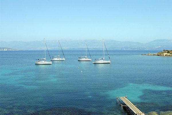A southern Ionian secret anchorage for the flotilla