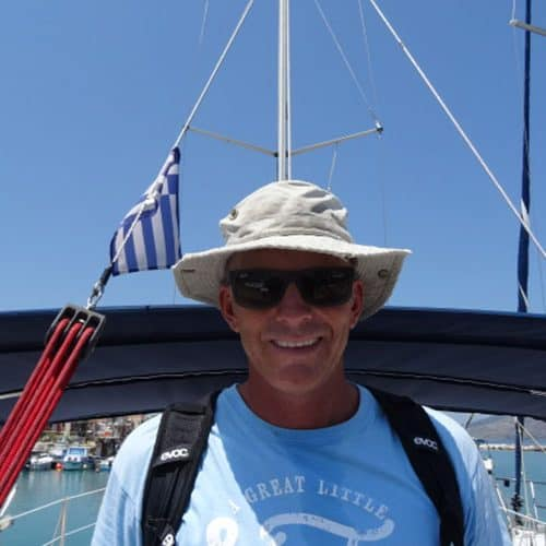 You'll bump into Chris for sure, our Flotilla manager out in Kefalonia