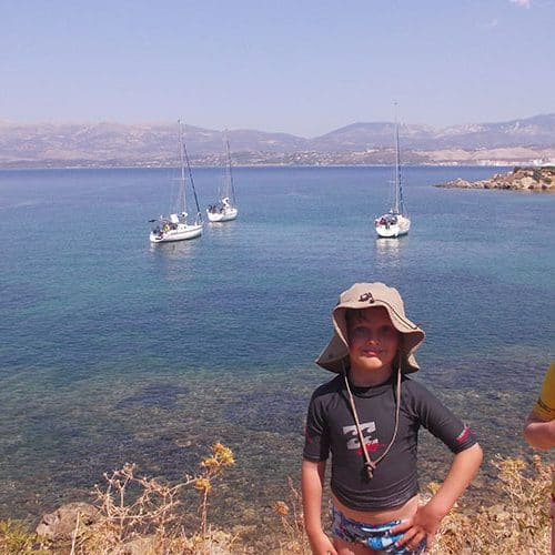 Exploring rabbit island off Argostoli