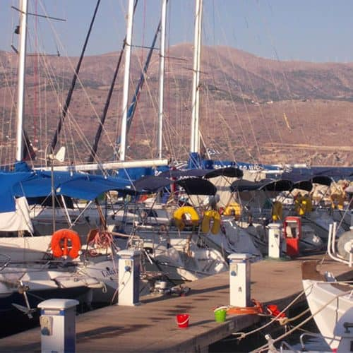 Sea Trek Learn to Sail yacht base in Lixouri marina