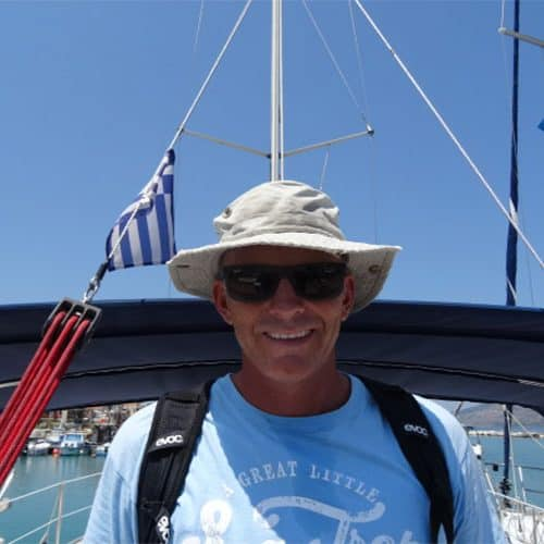 Chris our Kefalonia sailing holidays manager