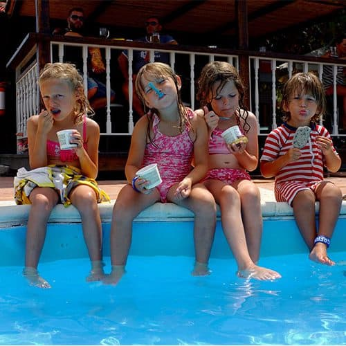 Ice creams at the pool bar are always popular
