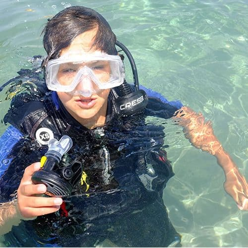 Padi scuba is on offer for all levels at the beach club