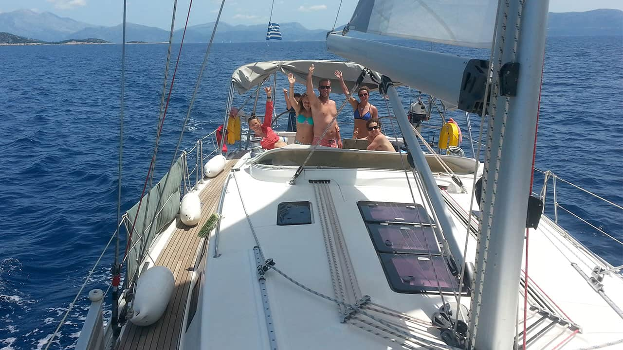 Enjoying a sailing holiday in Greece on a Bavaria 45