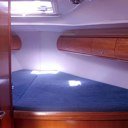 flotilla sailing sleeping area