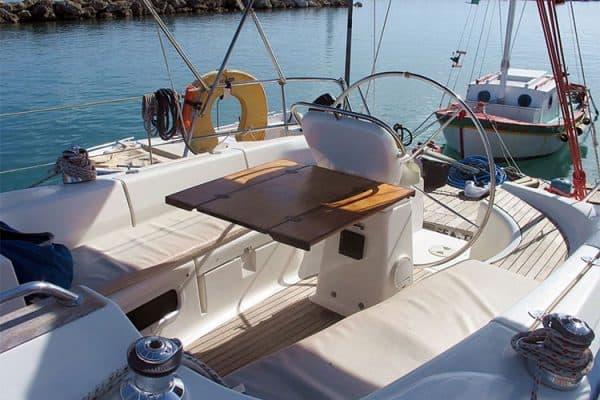 flotilla sailing greece seating