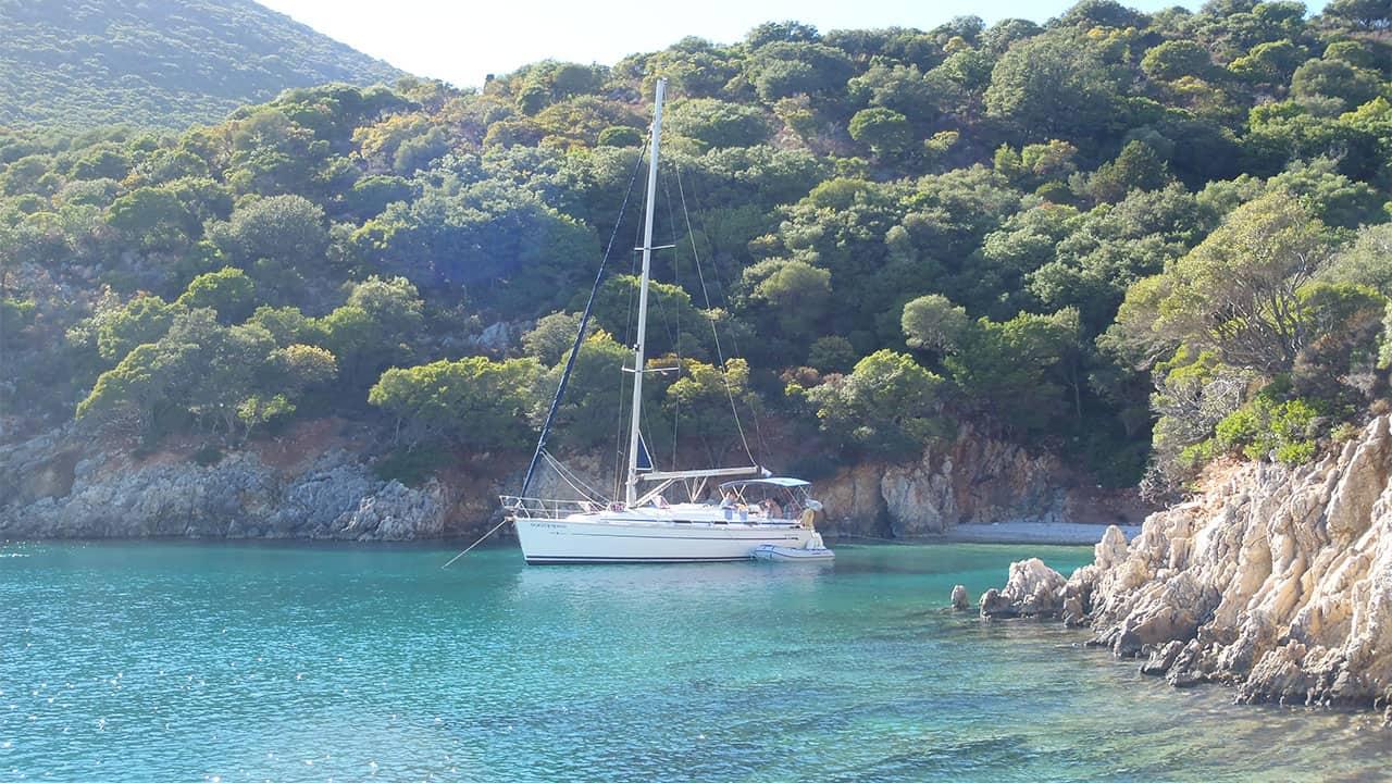 Yacht at Anchor Kefalonia