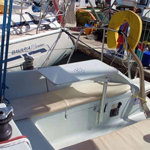 yatch sailing greece seating area