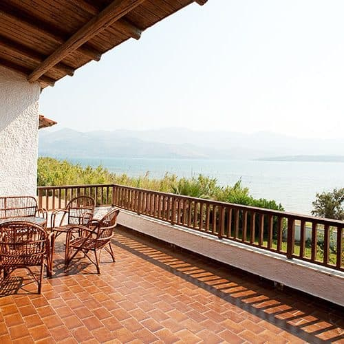 Lovely private balcony on the 1st floor villa