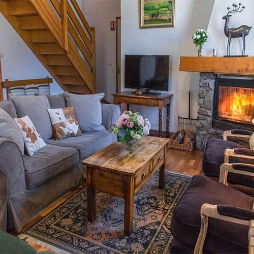 lucette ski chalet living room
