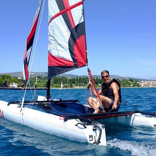 Free catamaran sailing