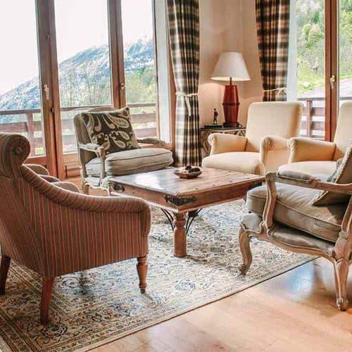 chalet saskia living room