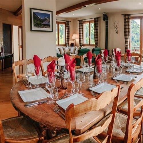 chalet saskia large dining table