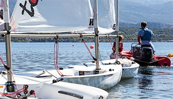 Beach activity holidays : our new beach sailing club on Kefalonia