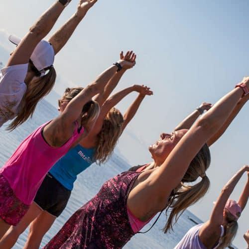 Beach Activity and Yoga