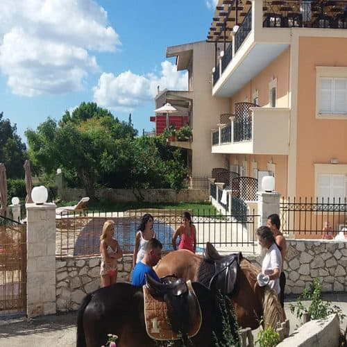 Beach riding in Kefalonia