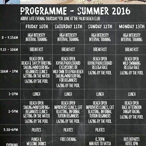 Summer 2016 Fitness Holiday