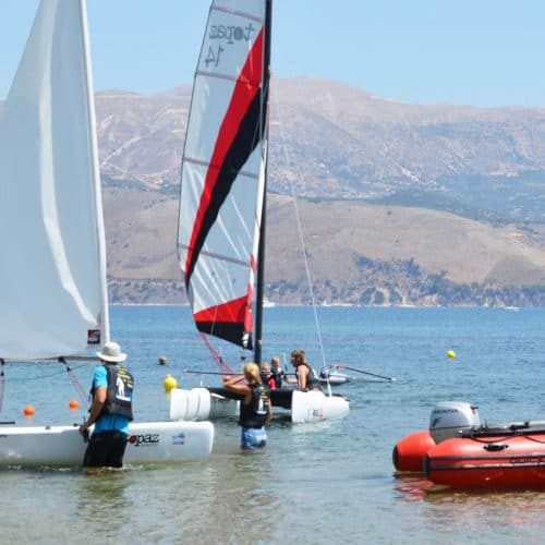Dinghy Sailing at Lixouri Bay Beach Club