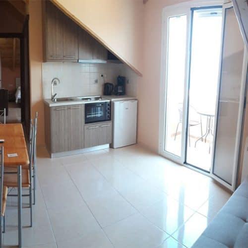Loft apartment spacious living/sleeping area