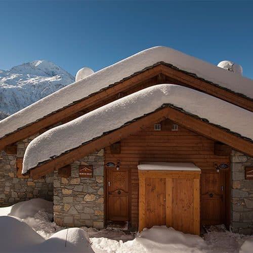 Useful ski locker and easy access