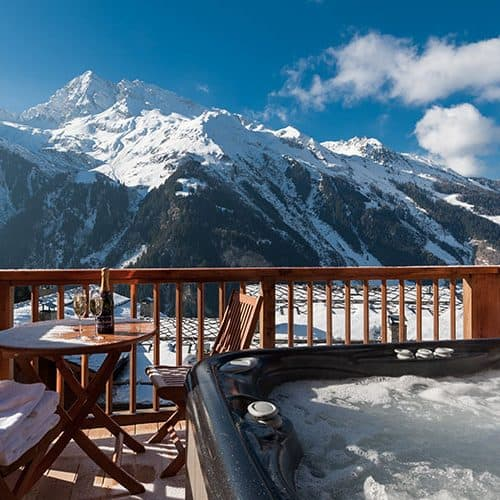 Stunning views across the valley from the hot tub