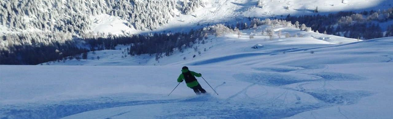 Skiing in Sainte Foy