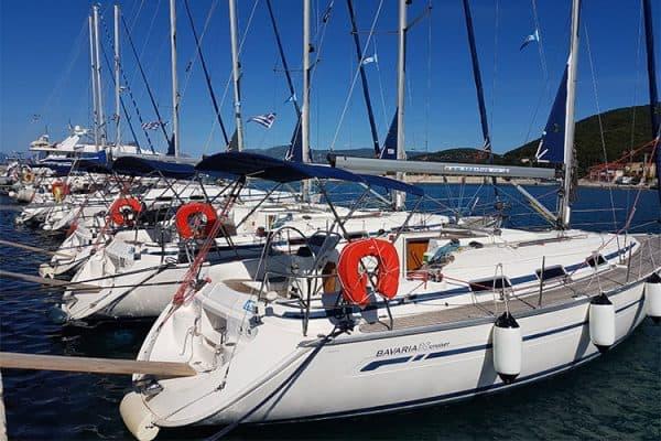 flotilla sailing in greece
