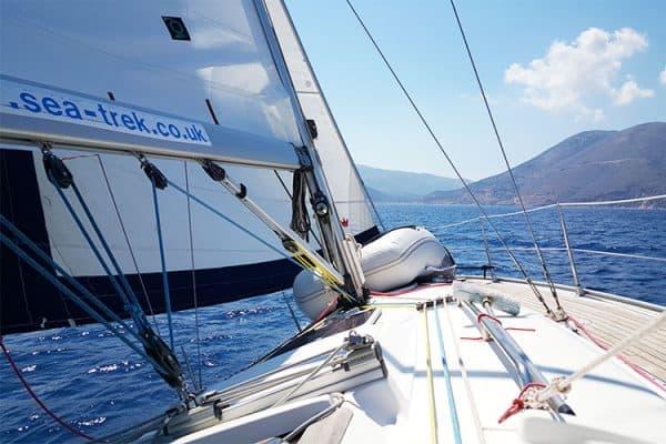 Sailing north past Ithaka