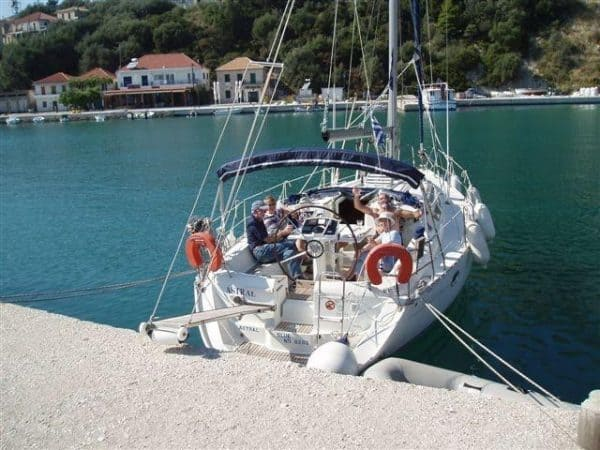 mooring in greece