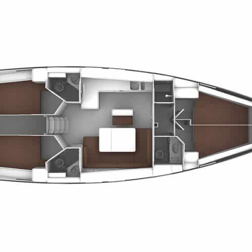 Bavaria 46 Layout