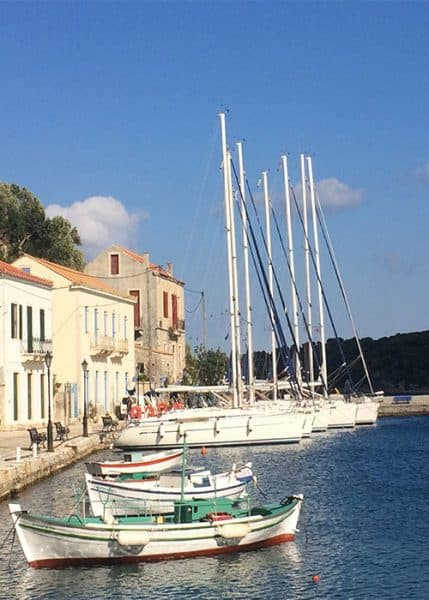 Stunning Kioni harbour in Ithaka