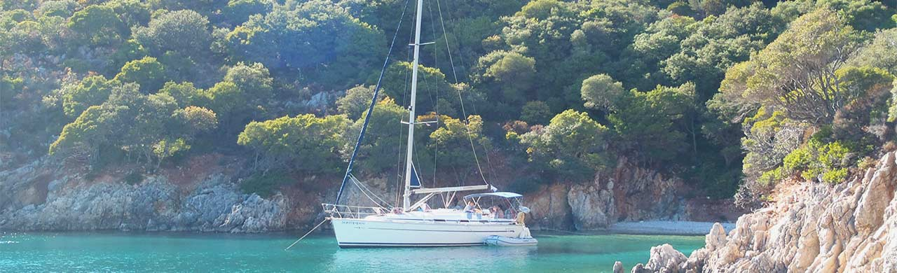 Bavaria 36 yacht moored on Flotilla