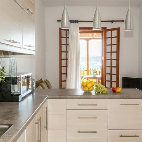 Lower apartment kitchen/sofa area