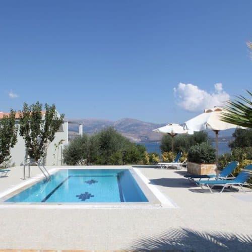 Paliki Villa Pool with Sea View