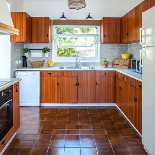 Upper apartment kitchen