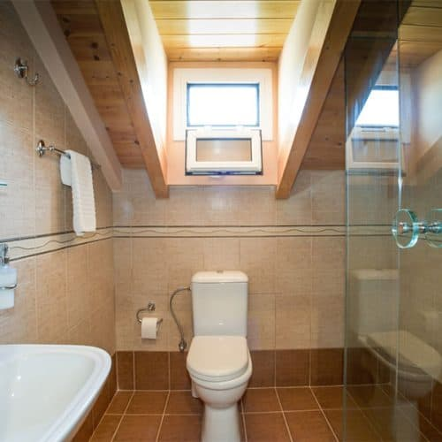 Brand new modern bathroom with shower