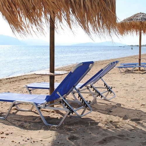 Sand, Sunbeds and Umbrellas
