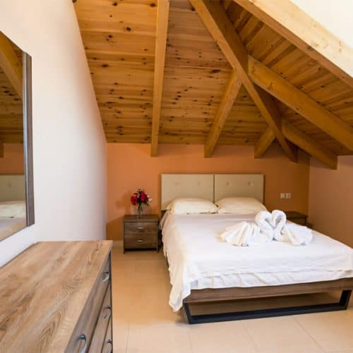 A very comfortable seperate double bedroom