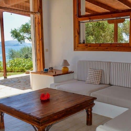 Nisos Beach House Living Area
