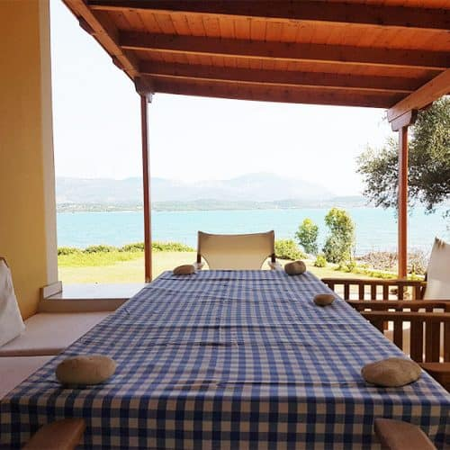 Nisos Beach House Al Fresco Dining