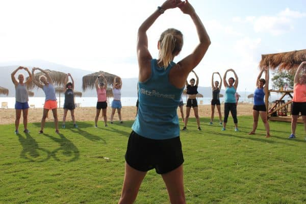 Blitz Fitness and Trek Adventures Yoga session
