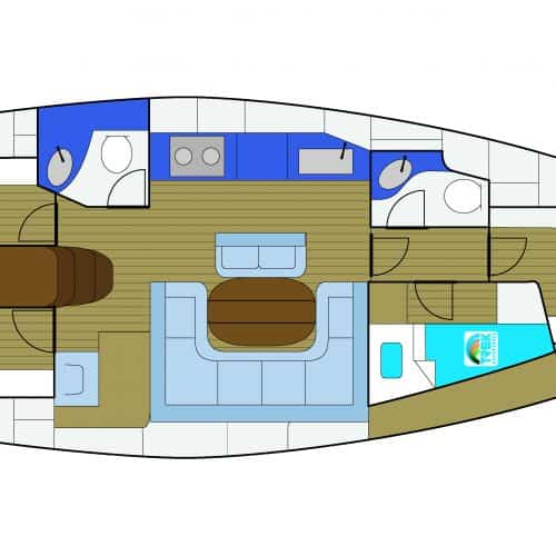 Bavaria 42 Layout
