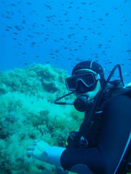diving in kefalonia with Trek Adventures
