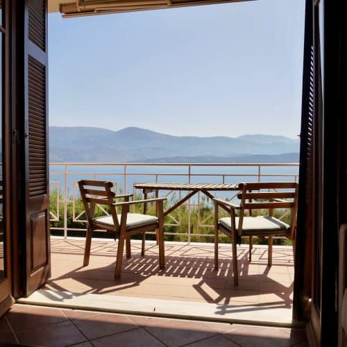 Aspasia Beach House sea view balcony