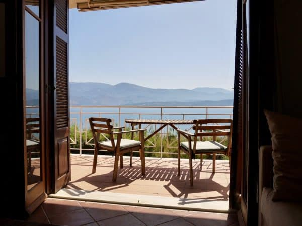 Aspasia Beach House sea view balcony