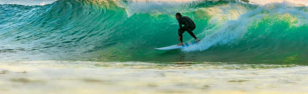 Surfing in Devon