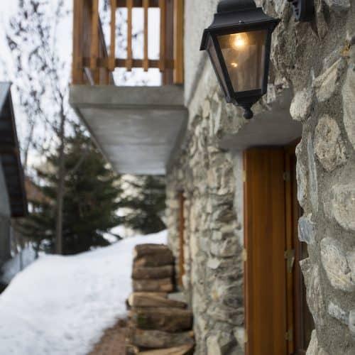 Chalet Dibona Light above front door