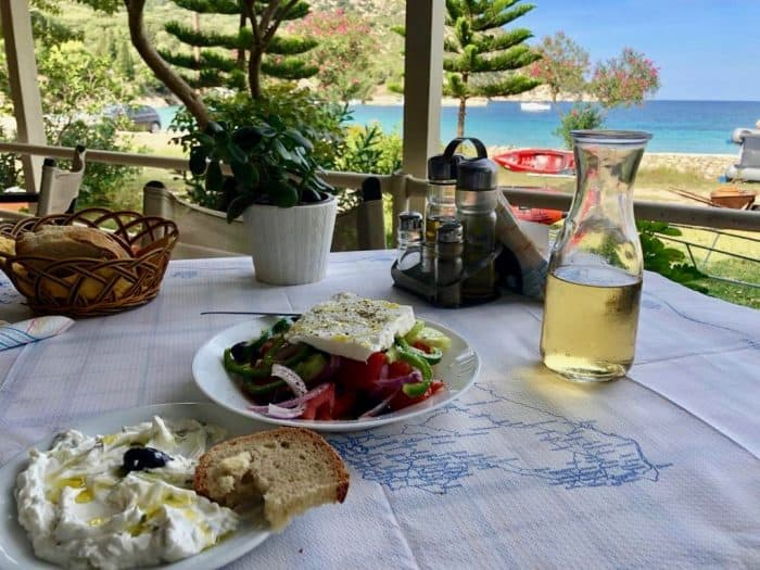 Greek food to try on a Sailing Holiday in Kefalonia