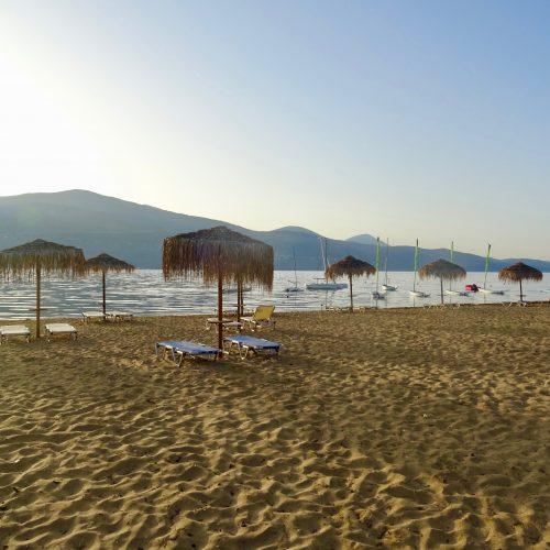 Early Morning Lixouri Bay Beach Club