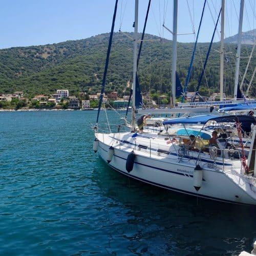 Flotilla Yachts moored in Kefalonia